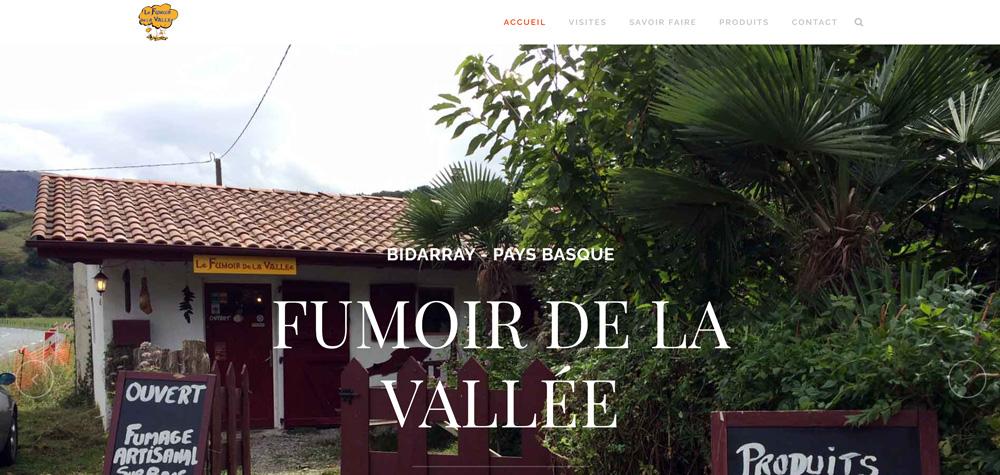 Création site internet de Fumoir de la vallée