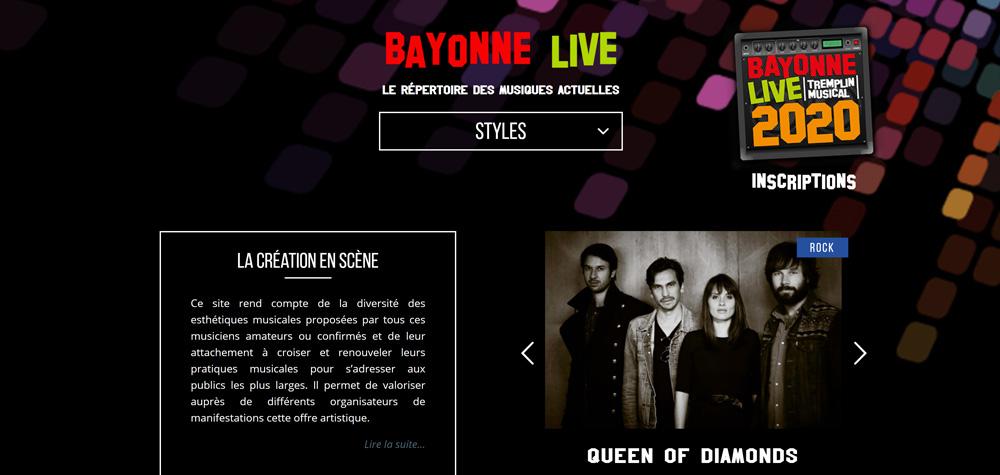 Création site internet de Répertoire des musiques actuelles