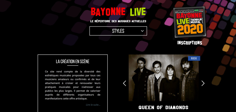 Création site web Bayonne
