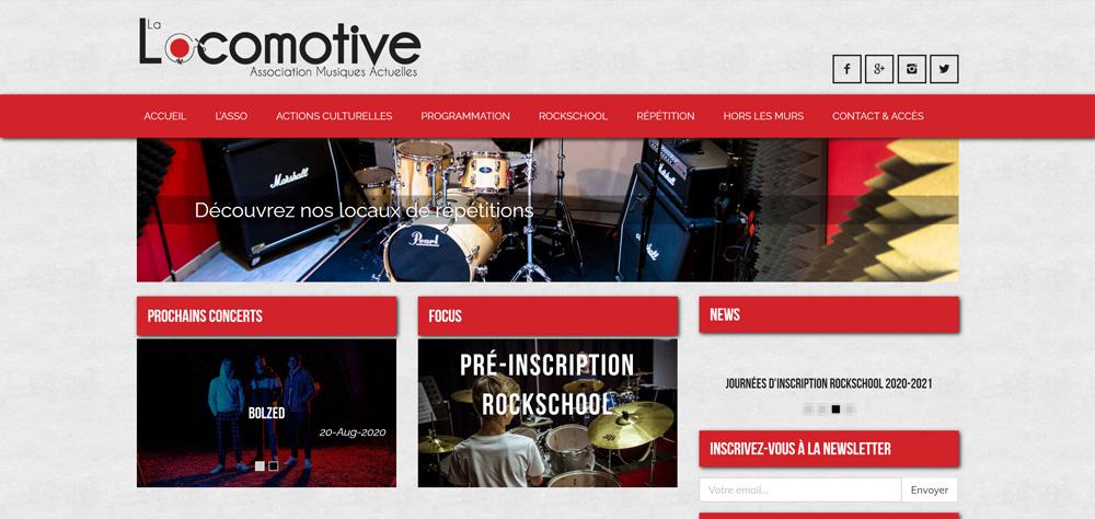 Création site internet de La Locomotive