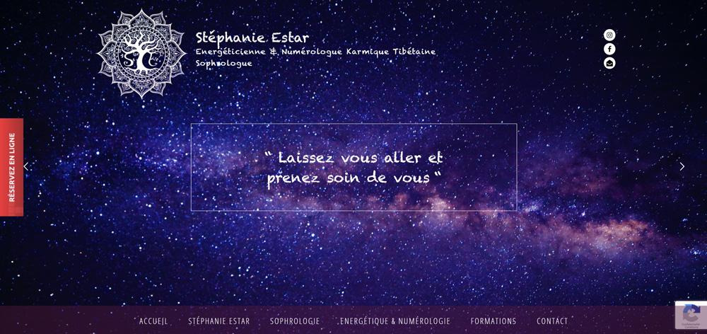 Création site internet de Stéphanie Estar
