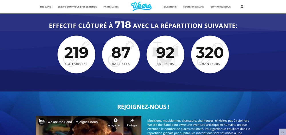 Création site internet de We are the band