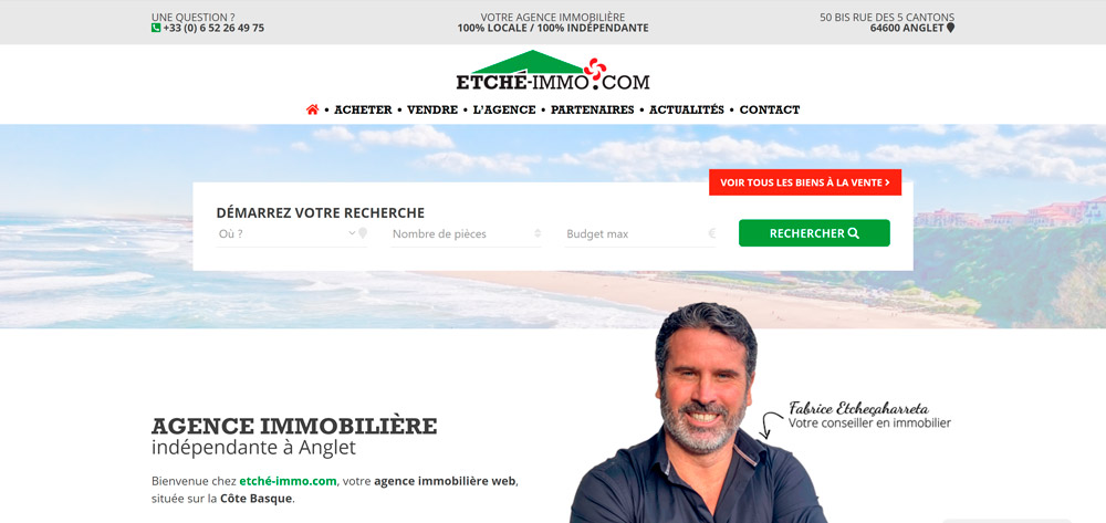 Création site web Anglet
