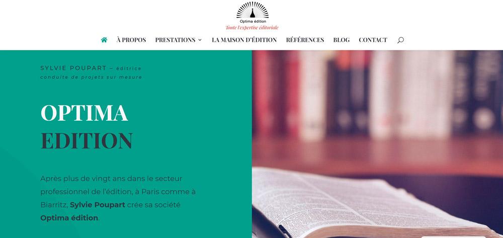 Création site internet de Optima édition