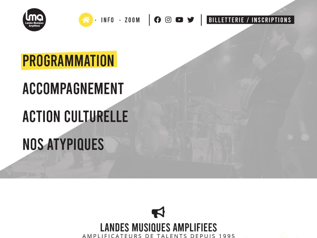 Création de site internet de Landes Musiques Amplifiées